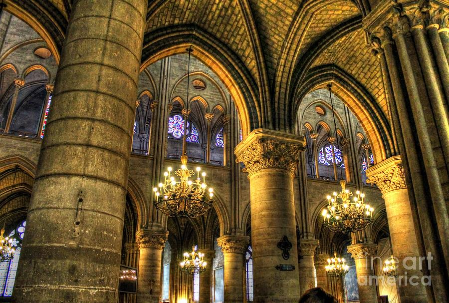 The Notre Dame Arcs Photograph - The Notre Dame Archs by Ines Bolasini