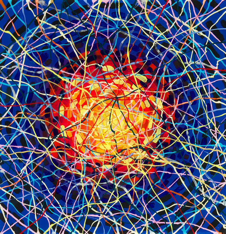 Plexiglass Painting - The Nucleus by Patrick OLeary