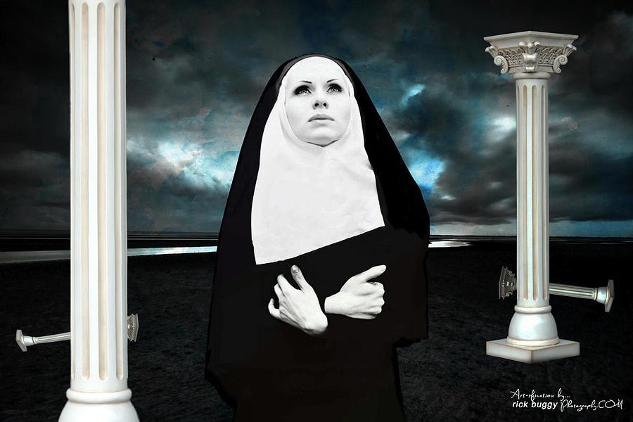 Nun Photograph - The Nun by Rick Buggy