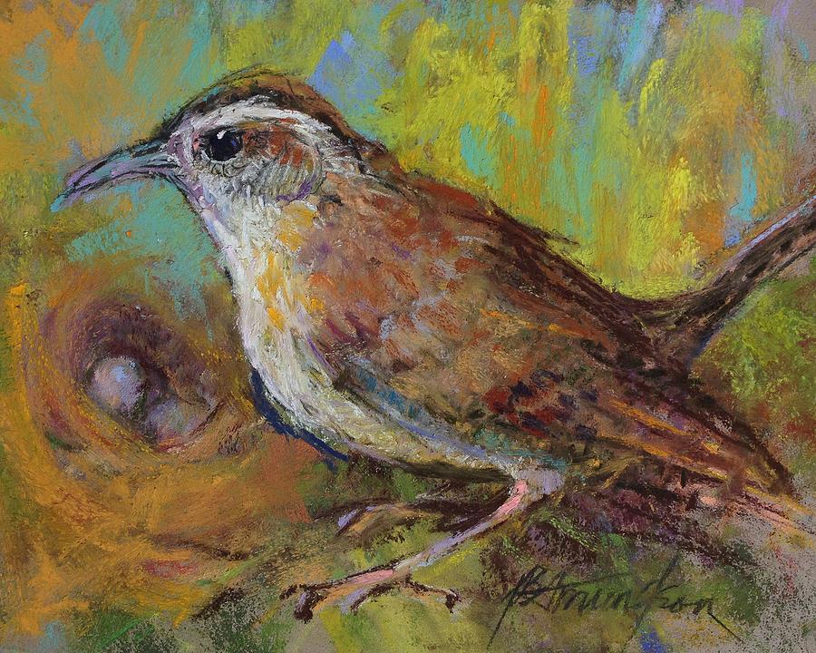 Bird Pastel - The Nurturer by Beverly Amundson