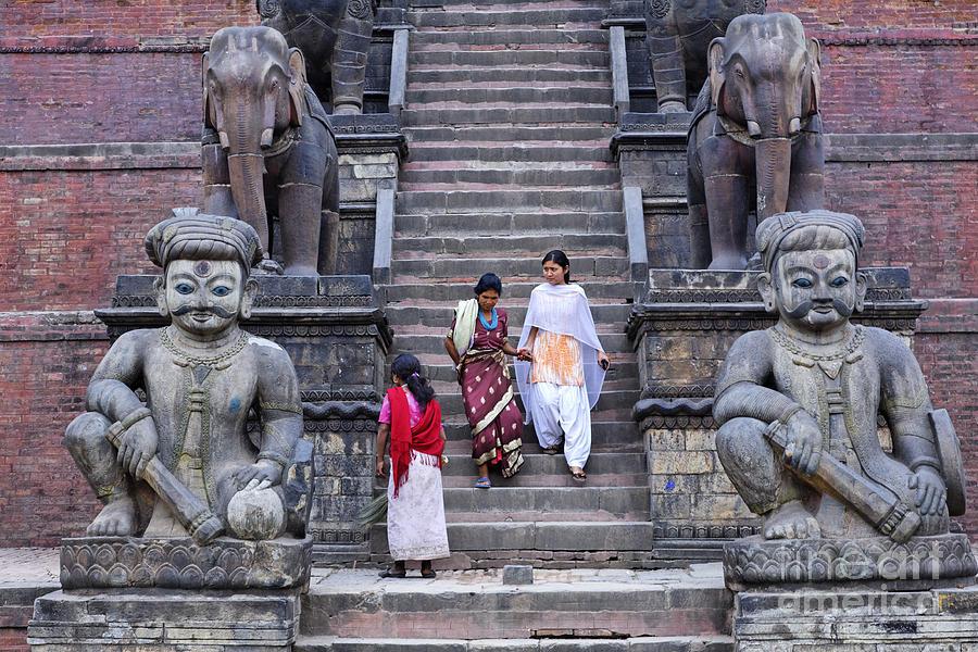 Bhaktapur Photograph - The Nyatapola Temple At Bhaktapur In Nepal by Robert Preston