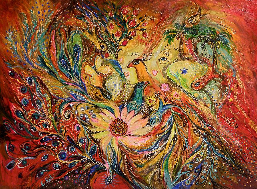 Original Painting - The Oasis by Elena Kotliarker