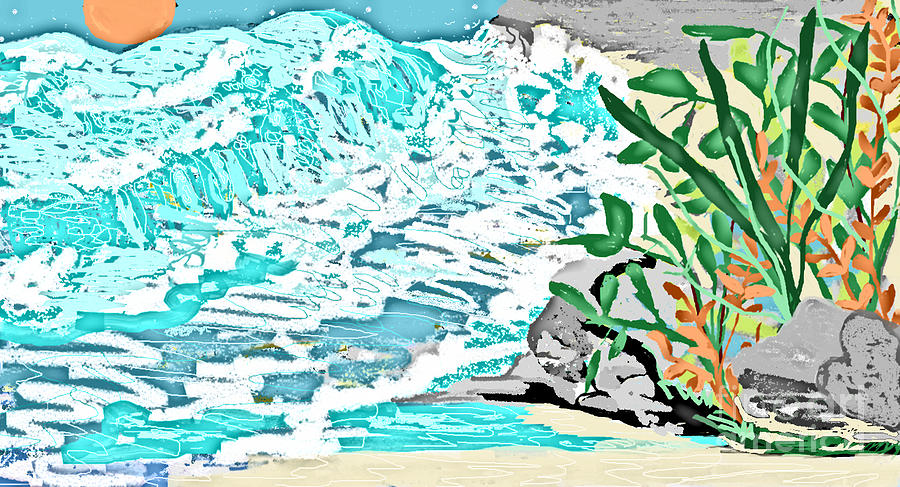 Painting - The Ocean Blues by Sherry  Hatcher