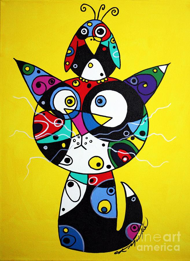 Cat Painting - The Odd Couple by Chris Mackie