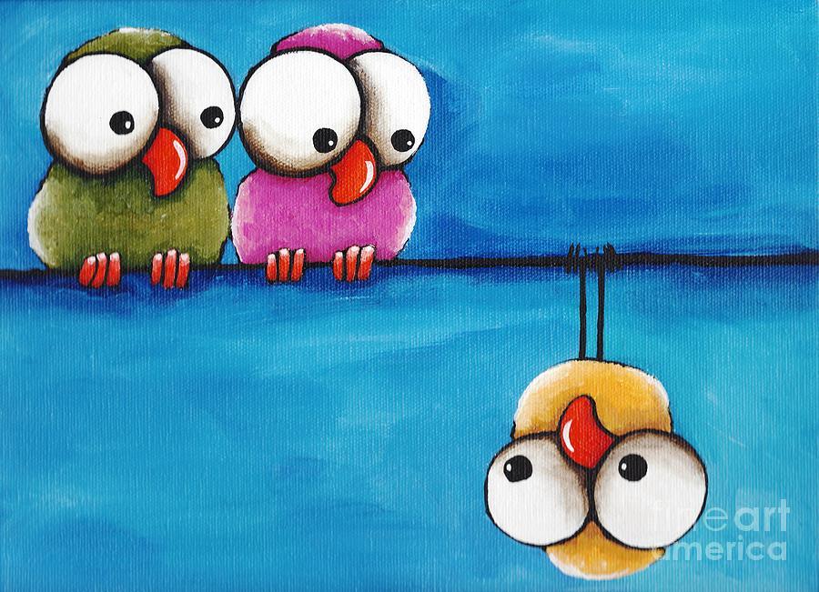 Могила неизвестного, птицы в смешных рисунках