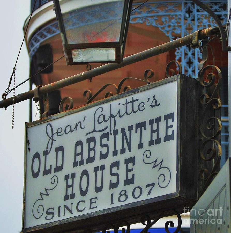 Old Absinthe House Photograph - Jean Lafittes Old Absinthe House, New Orleans by Marcus Dagan