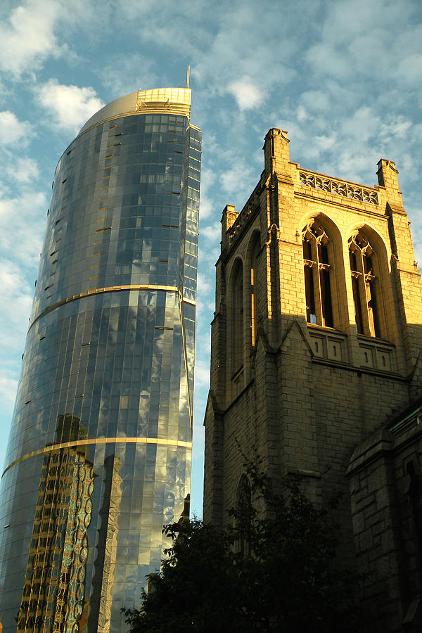 Vancouver Photograph - The Old And New by Brian Chase