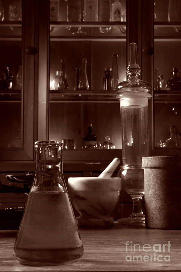 Apothecary Photograph - The Old Apothecary Shop by Olivier Le Queinec
