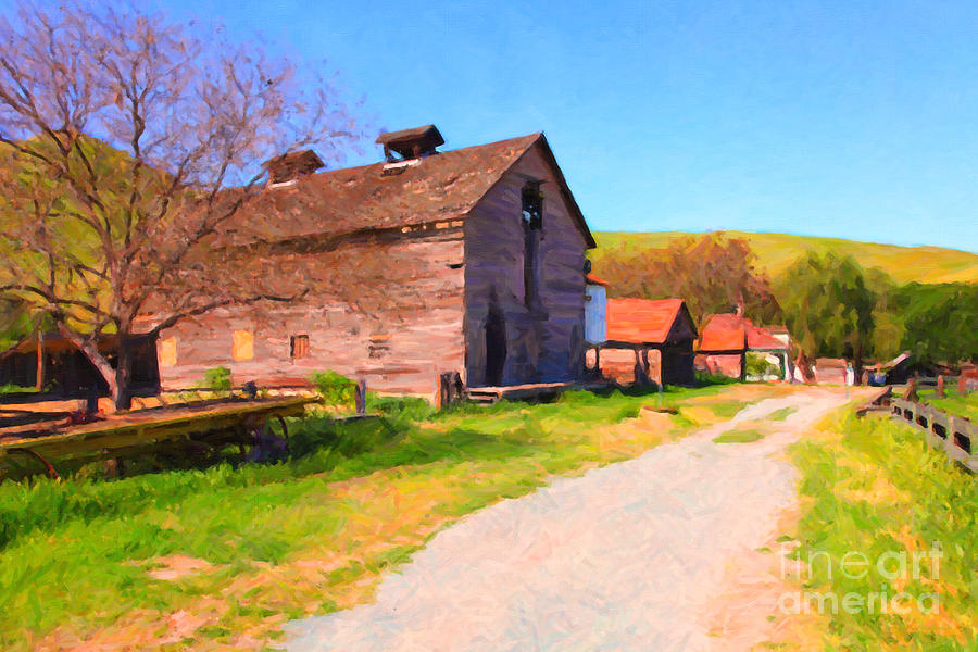Bayarea Photograph - The Old Barn 5d22271 by Wingsdomain Art and Photography