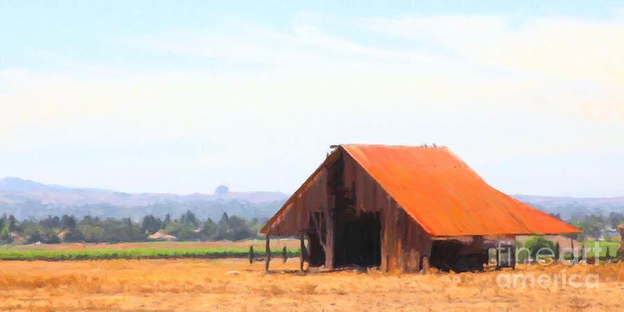 Petaluma Photograph - The Old Barn 5d24404 Long by Wingsdomain Art and Photography