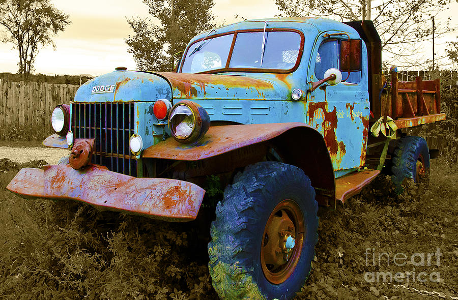 Old Dodge Truck Photograph - The Old Beater by John Debar