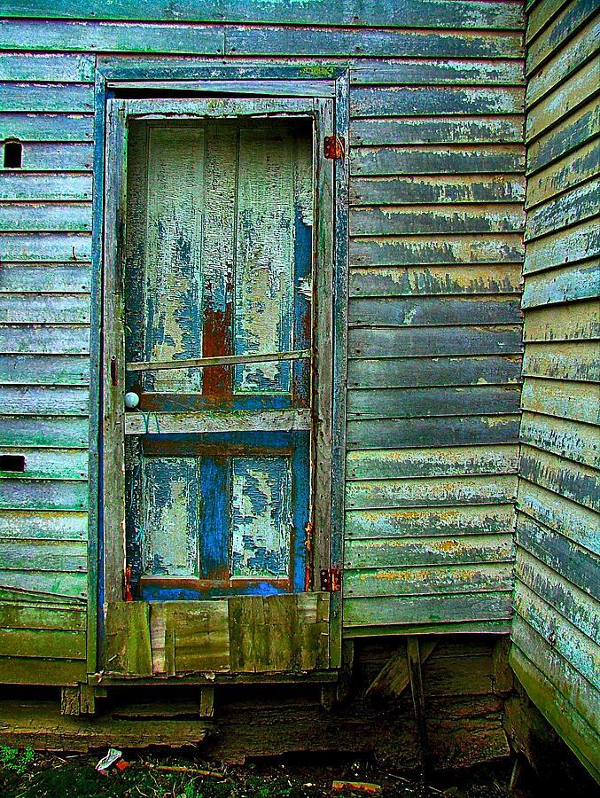 Old Doors Photograph - The Old Blue Door by Julie Dant