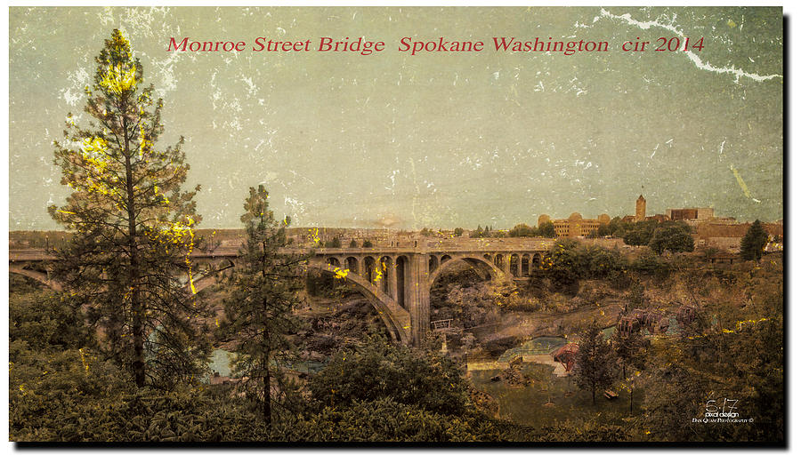 Spokane Wa Photograph - The Old Bridge by Dan Quam