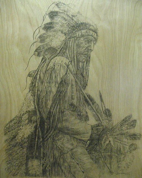 Drawing Drawing - The Old Cheyenne by Jim Stevens