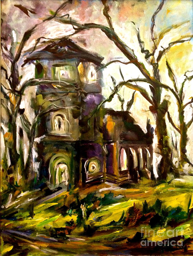 Church Painting - The Old Church by Michelle Dommer