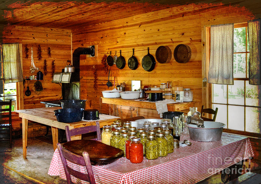Historic Photograph The Old Country Kitchen By Kathy Baccari