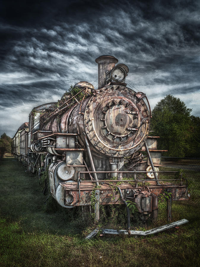 Train Photograph - The Old Depot Train by Brenda Bryant