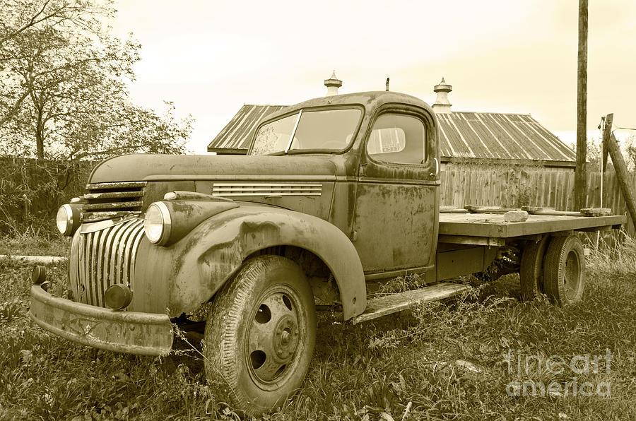 Old Farm Truck Photograph - The Old Farm Truck by John Debar