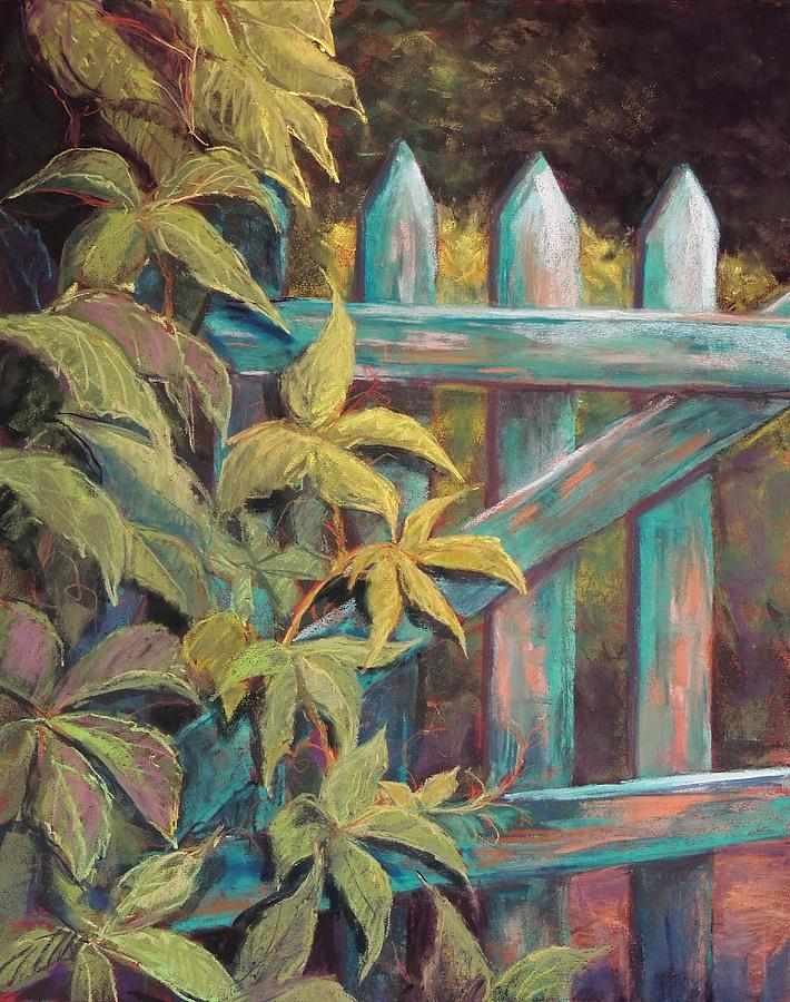Gate Pastel - The Old Gate by Candy Mayer