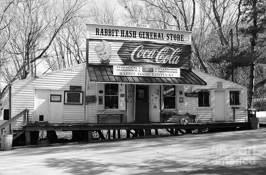 Nostalgia Photograph - The Old General Store Bw by Mel Steinhauer
