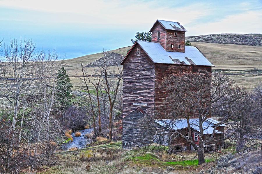 Cabin Photograph - The Old Grain Storage by Steve McKinzie