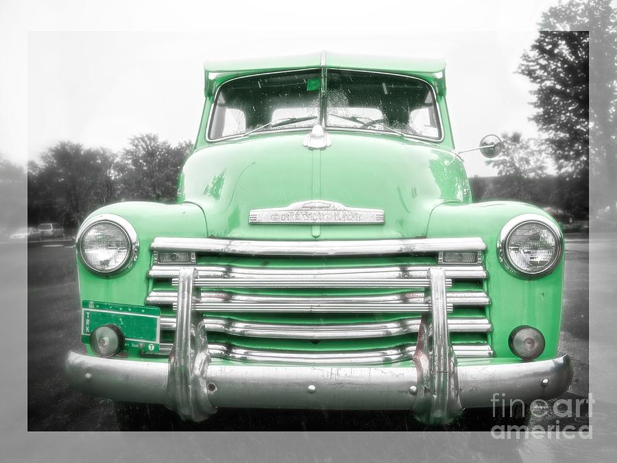 The Old Green Chevy Pickup Truck Photograph by Edward Fielding