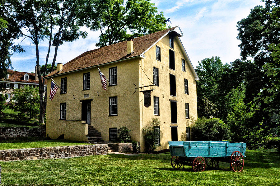 Old Photograph - The Old Grist Mill  Paoli Pa. by Bill Cannon