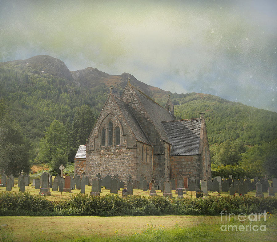 Graveyard Photograph - The Old Highland Church by Roy  McPeak