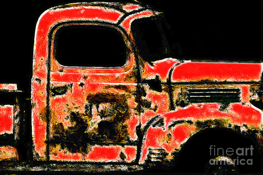 Countryside Photograph - The Old Jalopy 7d22382 by Wingsdomain Art and Photography