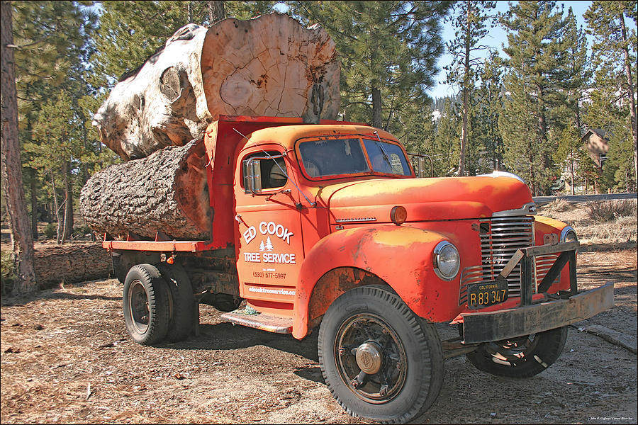 The Old Log Truck is a photograph by John Gaffney which was uploaded ...