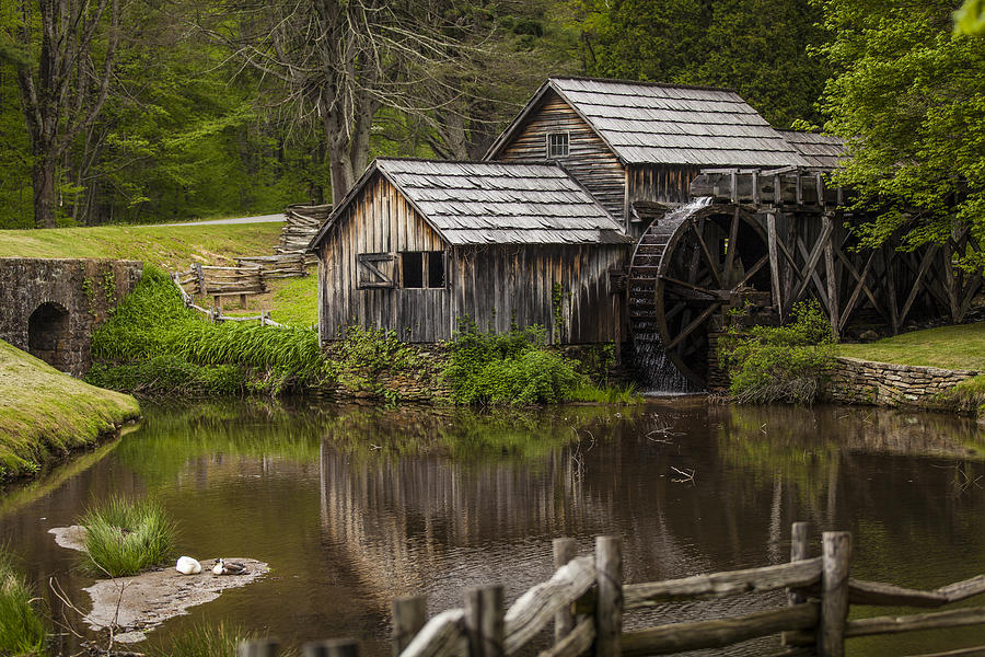 Landscapes Photograph - The Old Mill After The Rain by Amber Kresge