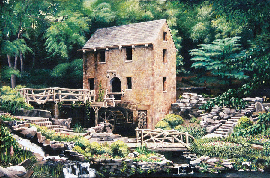 Gone With The Wind Painting - The Old Mill by Glenn Pollard