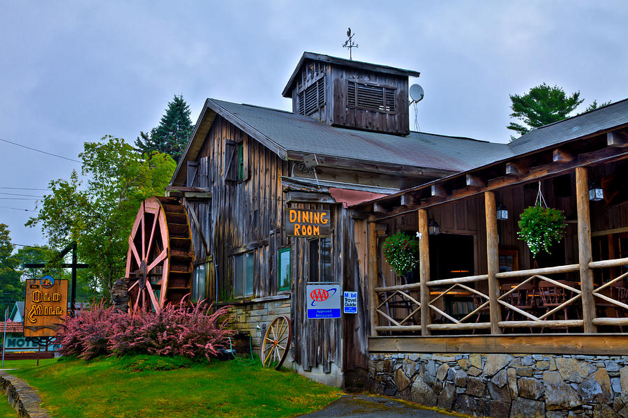 The Old Mill Photograph - The Old Mill Restaurant - Old Forge New York by David Patterson
