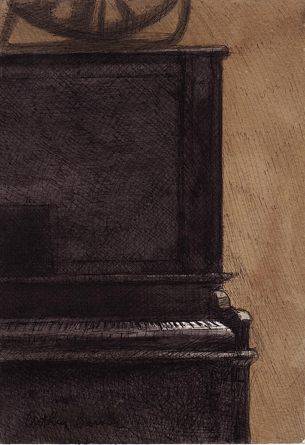 Piano Painting - The Old Piano by Arthur Barnes