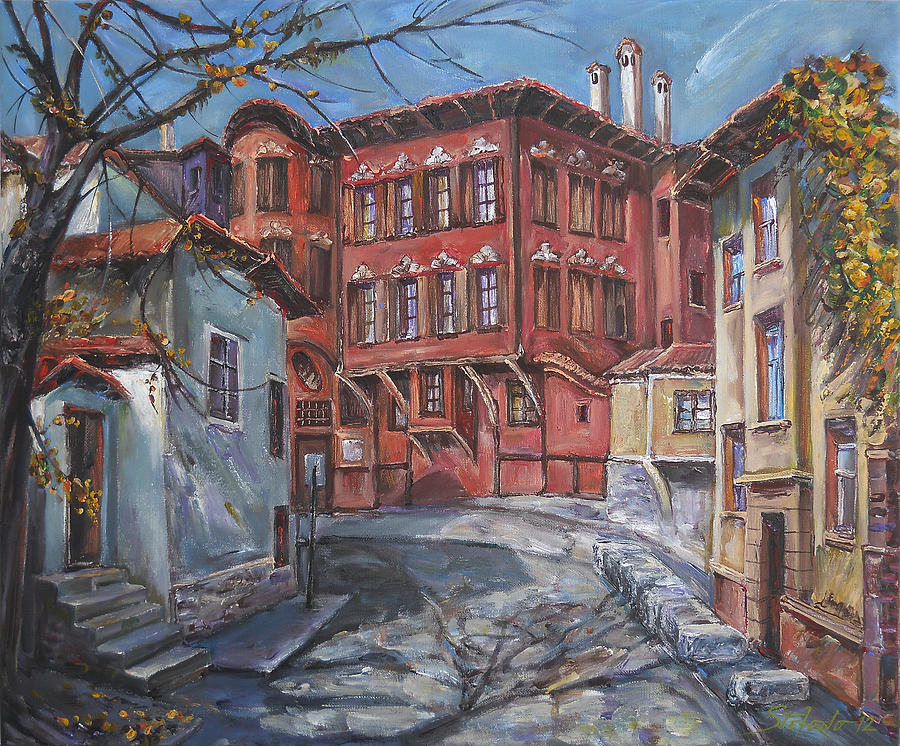 Traditional Digital Art - The Old Plovdiv - Autumn Sun by Stefano Popovski