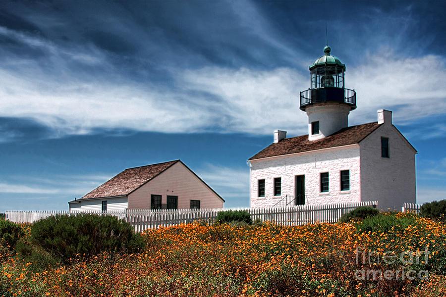 The Old Point Loma Lighthouse by Diana Sainz by Diana Raquel Sainz
