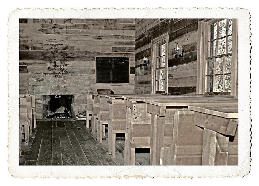 1800 Photograph - The Old Schoolhouse by Susan Leggett