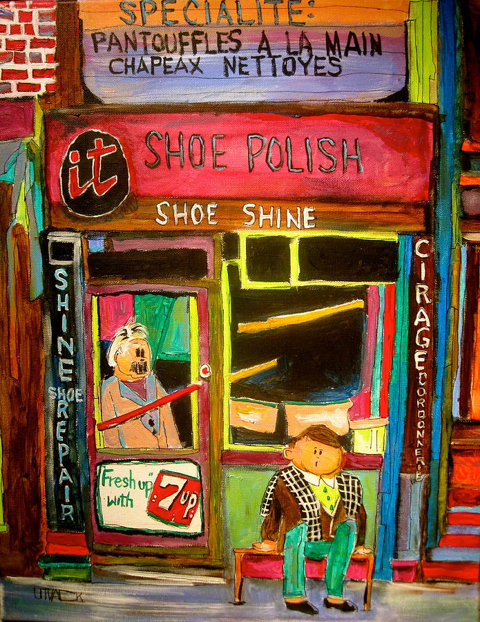 Shoemaker Painting - The Old Shoemaker by Michael Litvack
