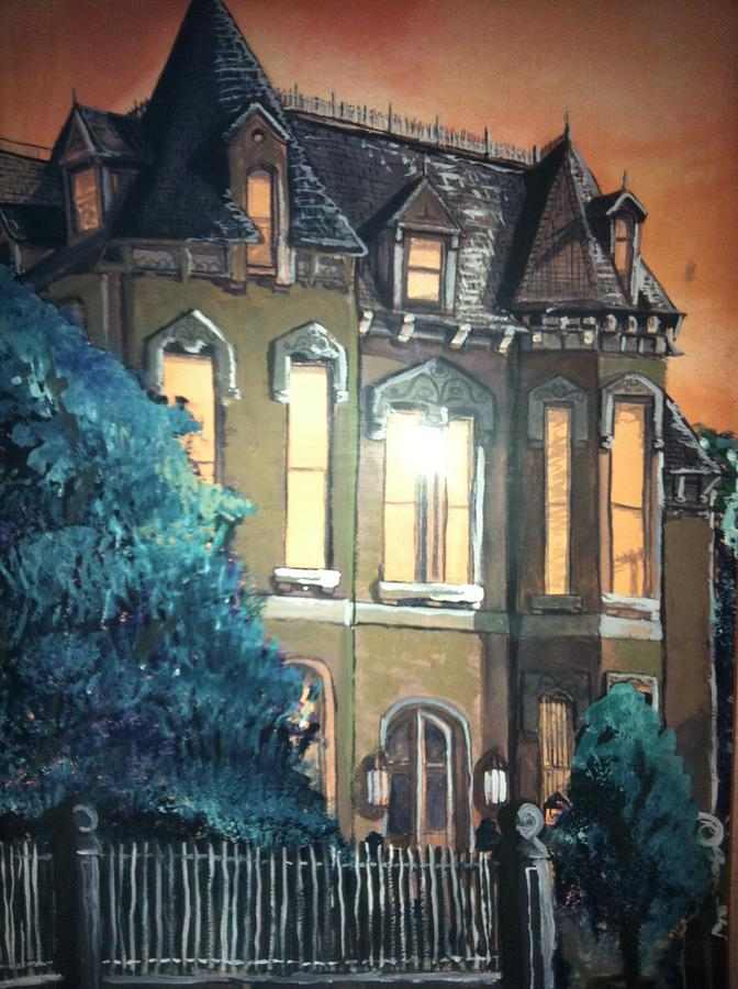 Wilkes-barre Painting - The Old Stegmeier Mansion by Alexandria Weaselwise Busen