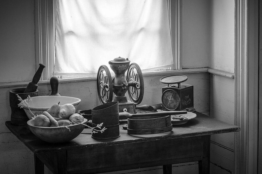 Nostalgic Photograph - The Old Table By The Window - Wonderful Memories Of The Past - 19th Century Table And Window by Gary Heller