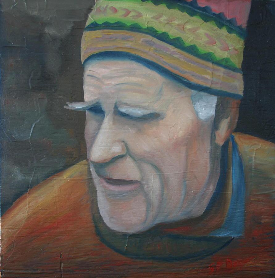 Portrait Painting - The Old Teacher by Stephen Degan