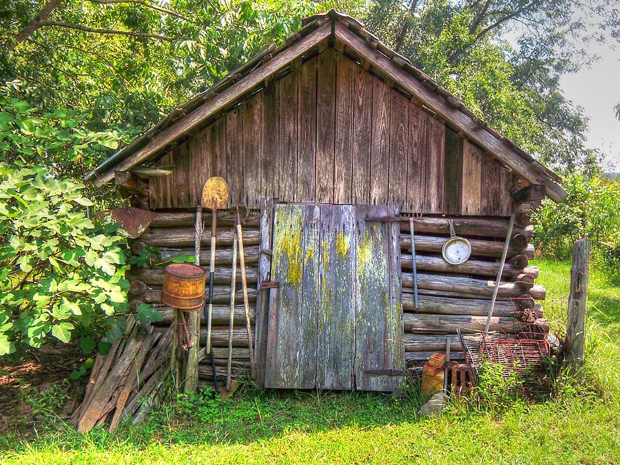 100 Years Old Photograph - The Old Tool Shed II by Lanita Williams