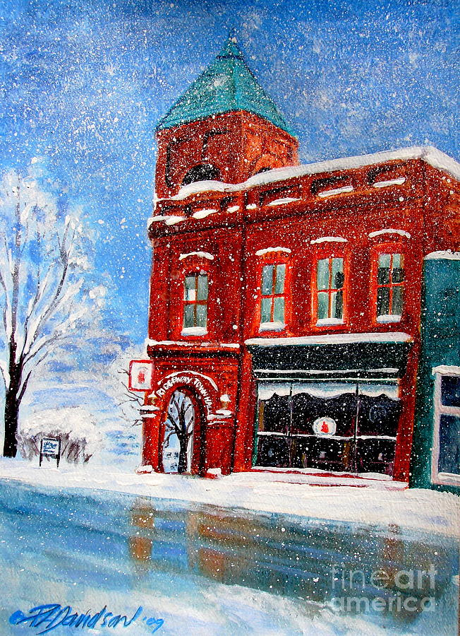 Historical Society Painting - The Old Town Hall by Patricia L Davidson