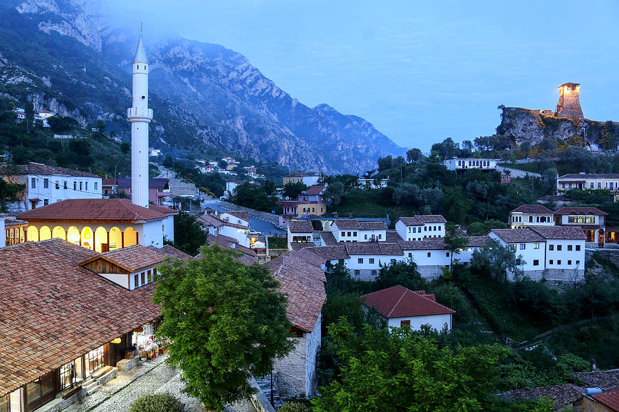 The old town of Kruje (Krujë, Kruja), Albania, Europe Photograph by Frans Sellies
