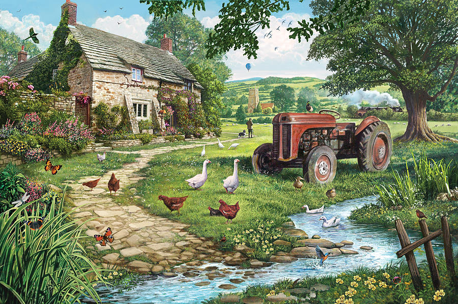 Garden gate plans - The Old Tractor Photograph By Steve Crisp