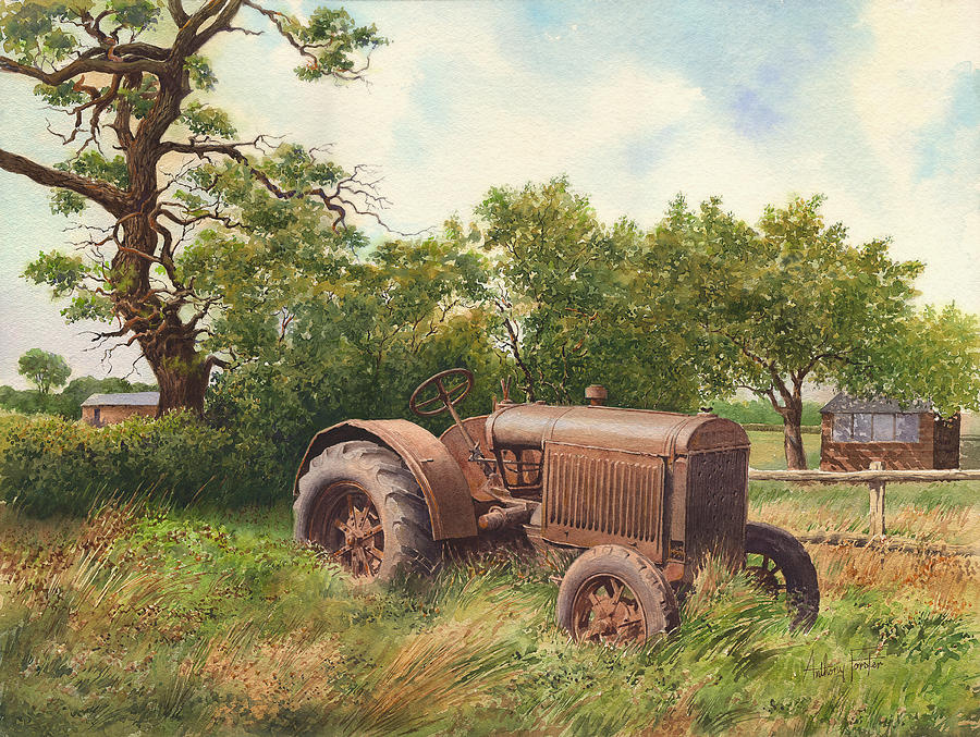Vintage Painting - The Old Warrior by Anthony Forster