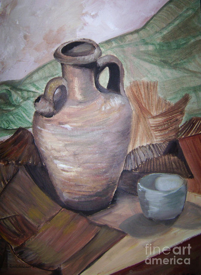 Vase Painting - The Old Way					 by Roni Ruth Palmer