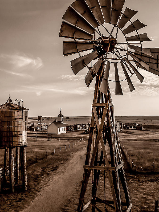 The Old Western Windmill Photograph By Daniel Adams