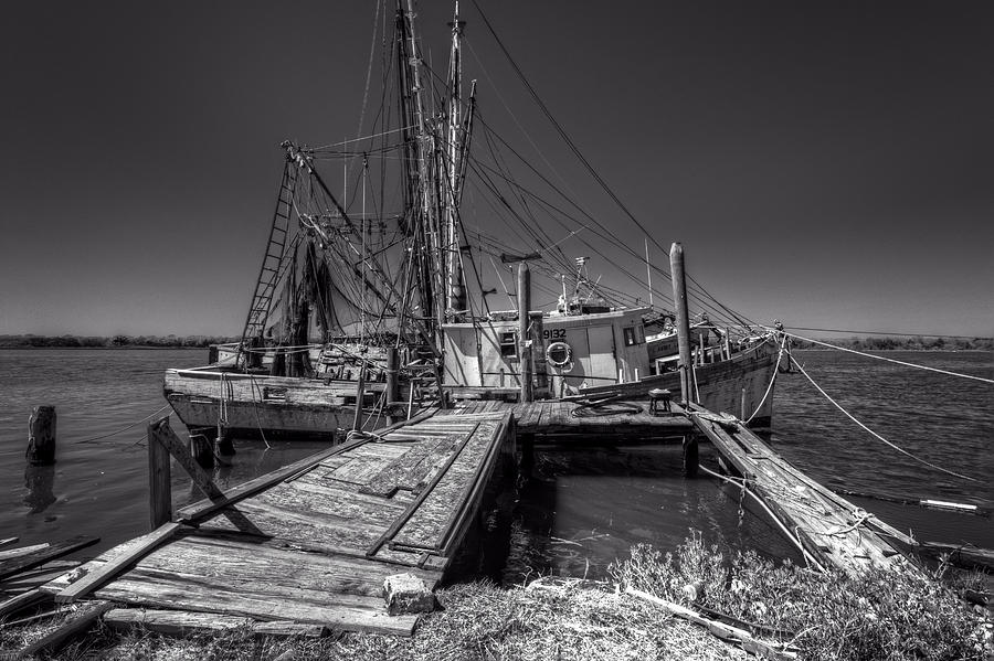 Boats Photograph - The Old Wharf In Brunswick by Debra and Dave Vanderlaan
