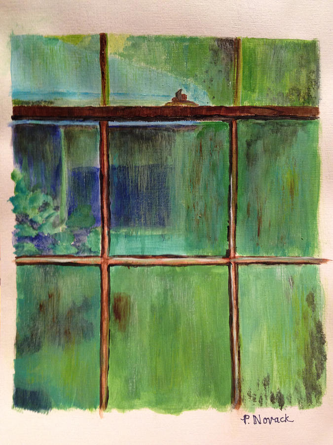 the-old-window-on-a-rainy-day-patricia-novack Painting Metal An Old Mobile Home on an old cabin, an old barn, an old hotel room,